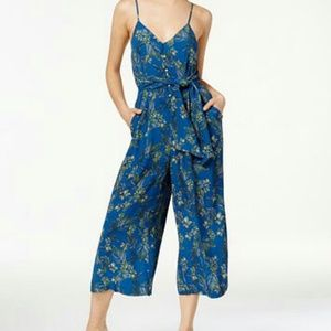 Free People Blue Combo Jumpsuit